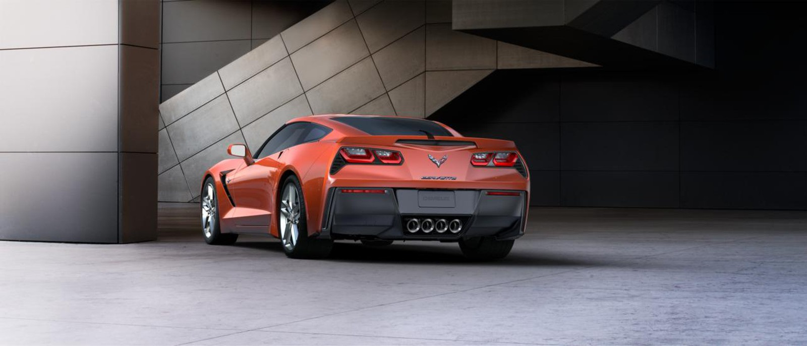 2016 Chevy Corvette Stingray Z51 3LT Coupe Rear
