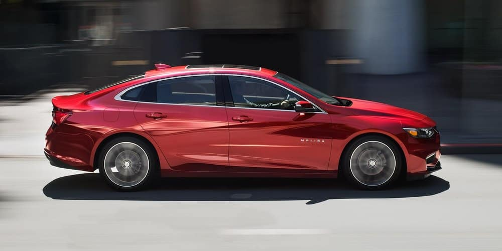 2019 Chevy Malibu Red Side View