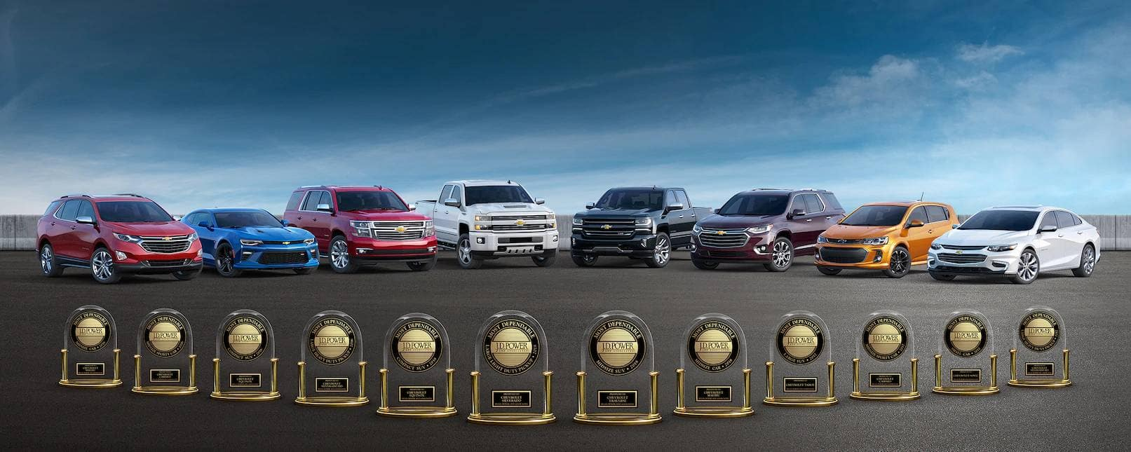 All Chevy JD Power Awards