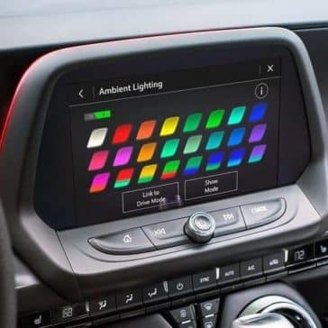 ambient lighting selection for the 2019 Chevrolet Camaro