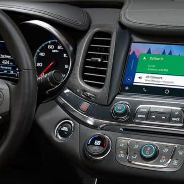 dashboard closeup of 2019 Chevrolet Impala