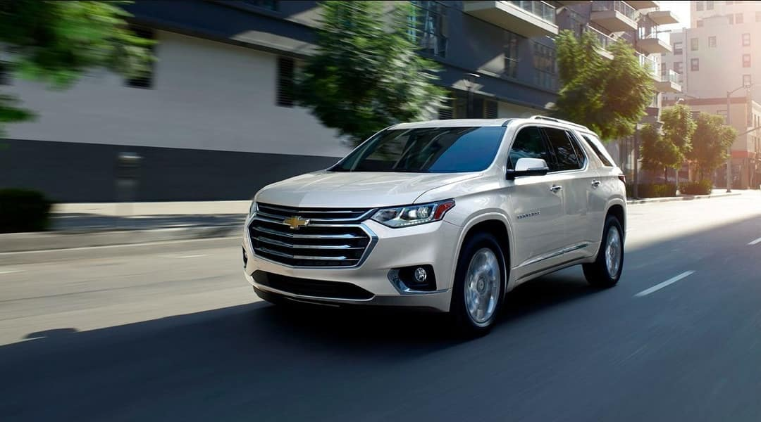 2019 Chevy Traverse Driving