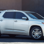 2019 Chevrolet Traverse in white.
