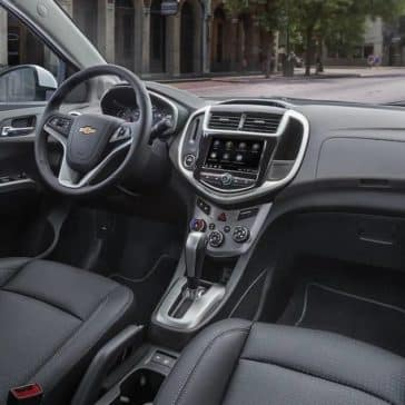 interior cabin of 2019 Chevrolet Sonic