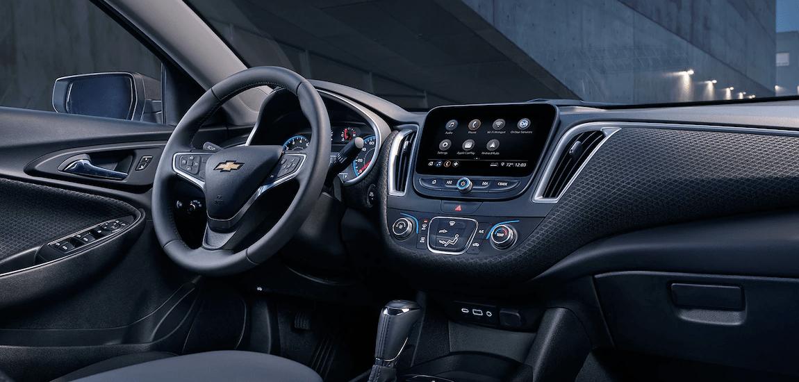 2019 Chevy Malibu interior in black
