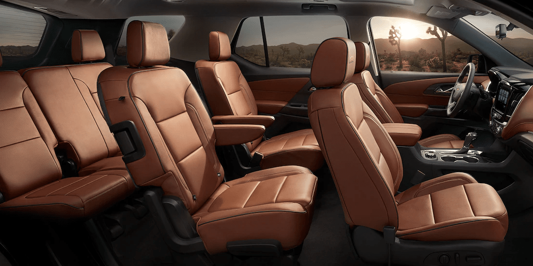 2019 Chevy Traverse Interior in tan