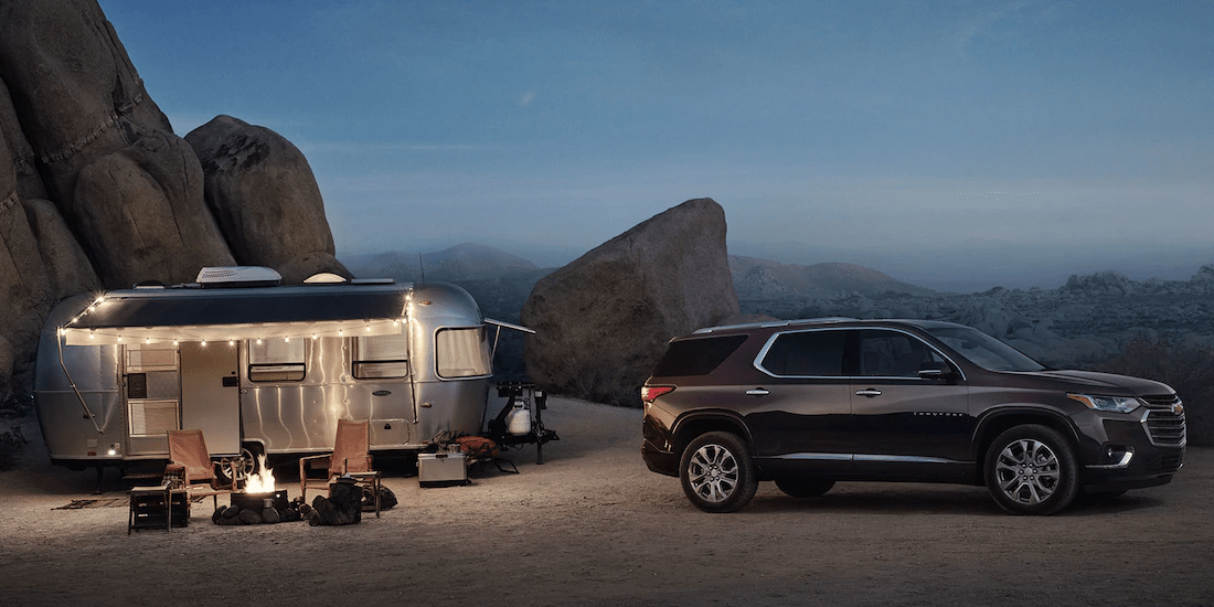 2019 Chevy Traverse outdoor with trailer