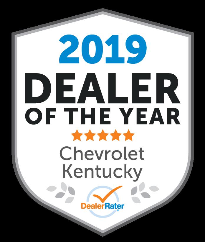2019 DealerRater Dealer of the Year Chevy Kentucky
