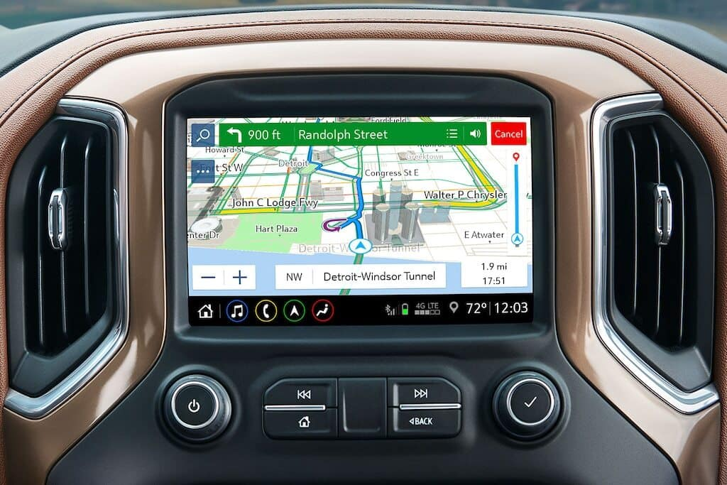 Chevy Infotainment 3 Navigation Screen