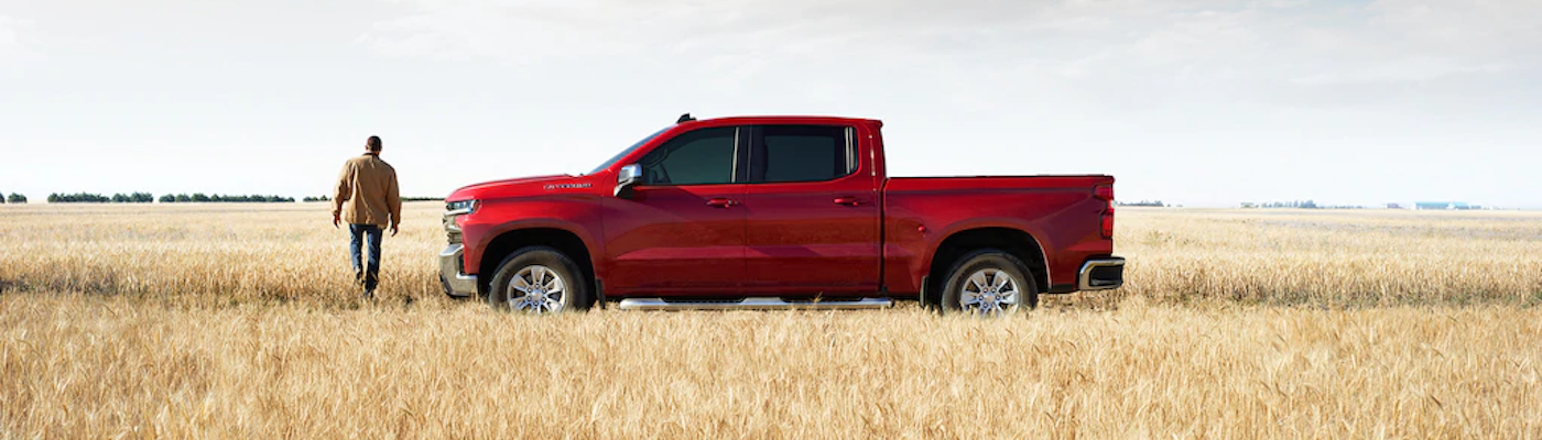 2020 Silverado parked in a field
