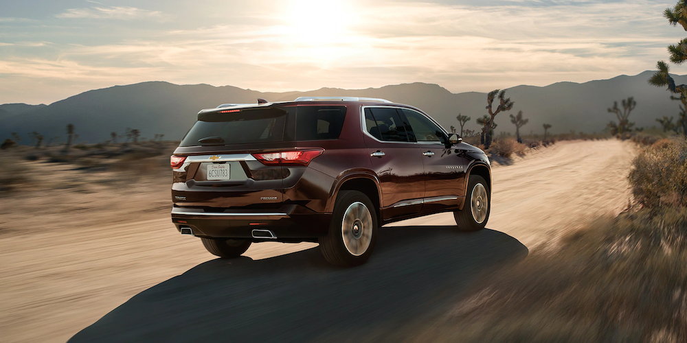 2020 Traverse on a dirt road