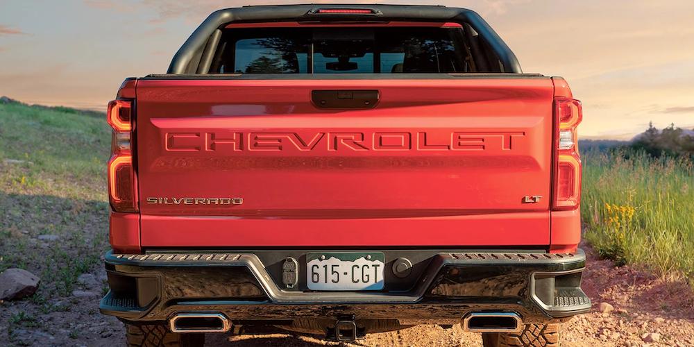 Rear of 2020 Silverado