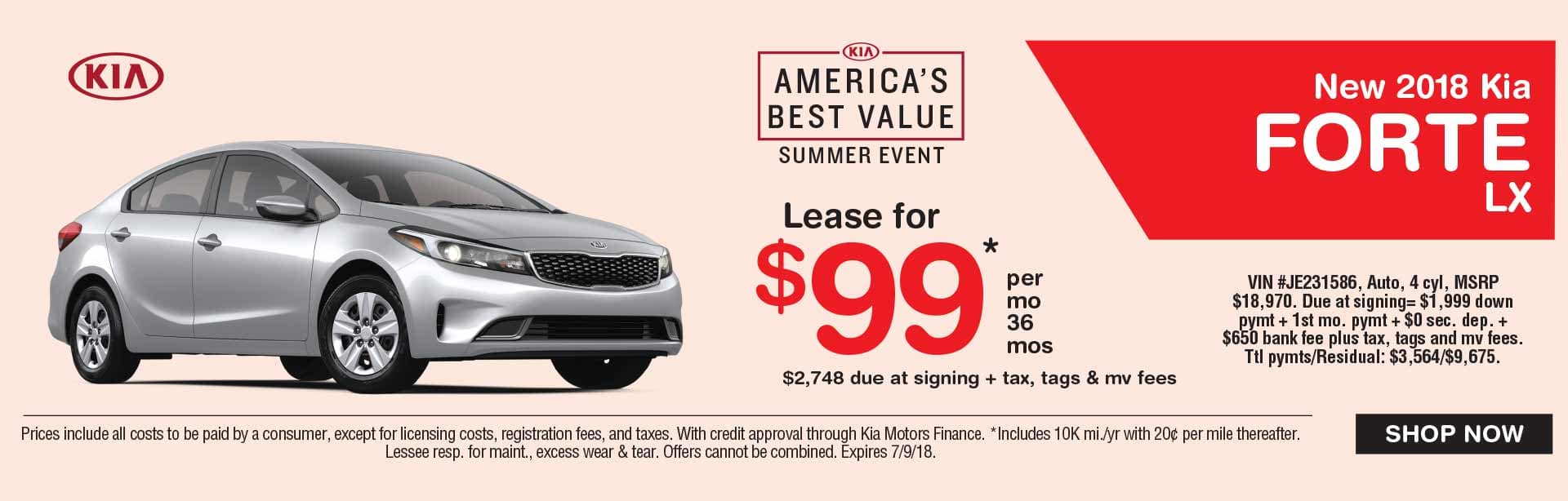 Global Kia Forte Lease Special
