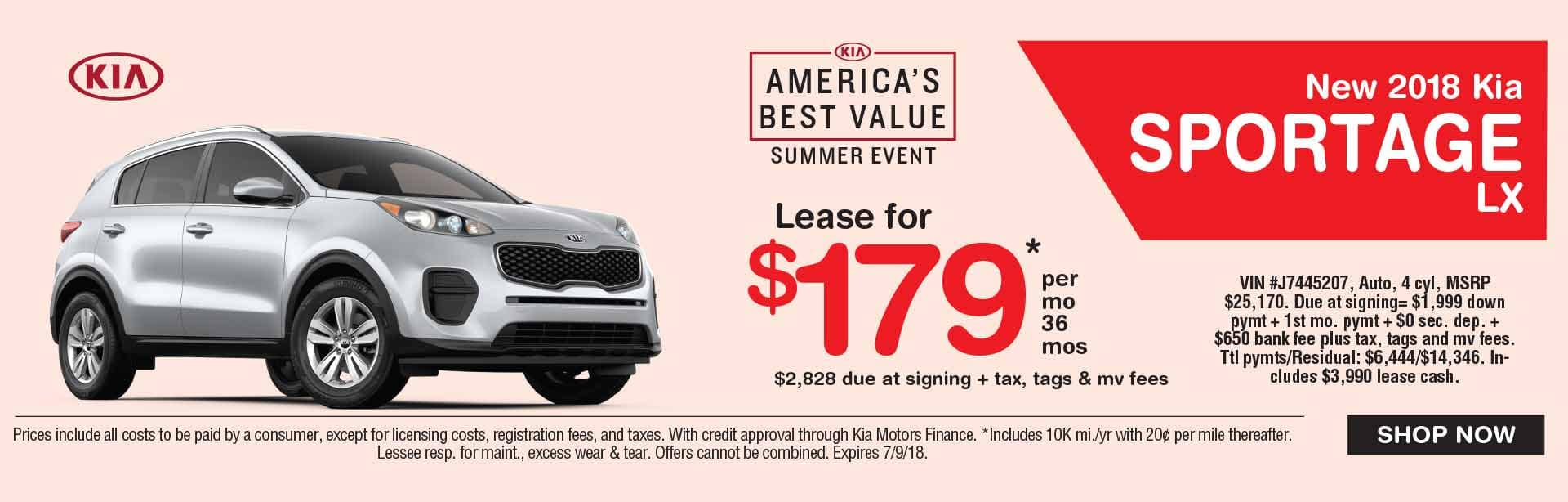 Global Kia Sportage Lease Special
