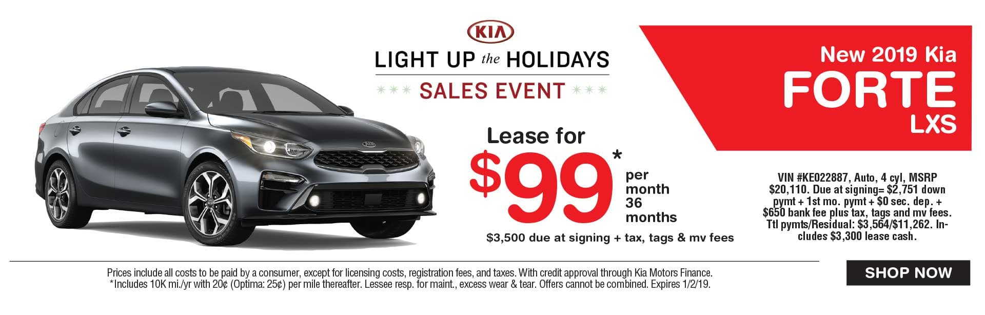Kia Forte lease savings at Global Kia