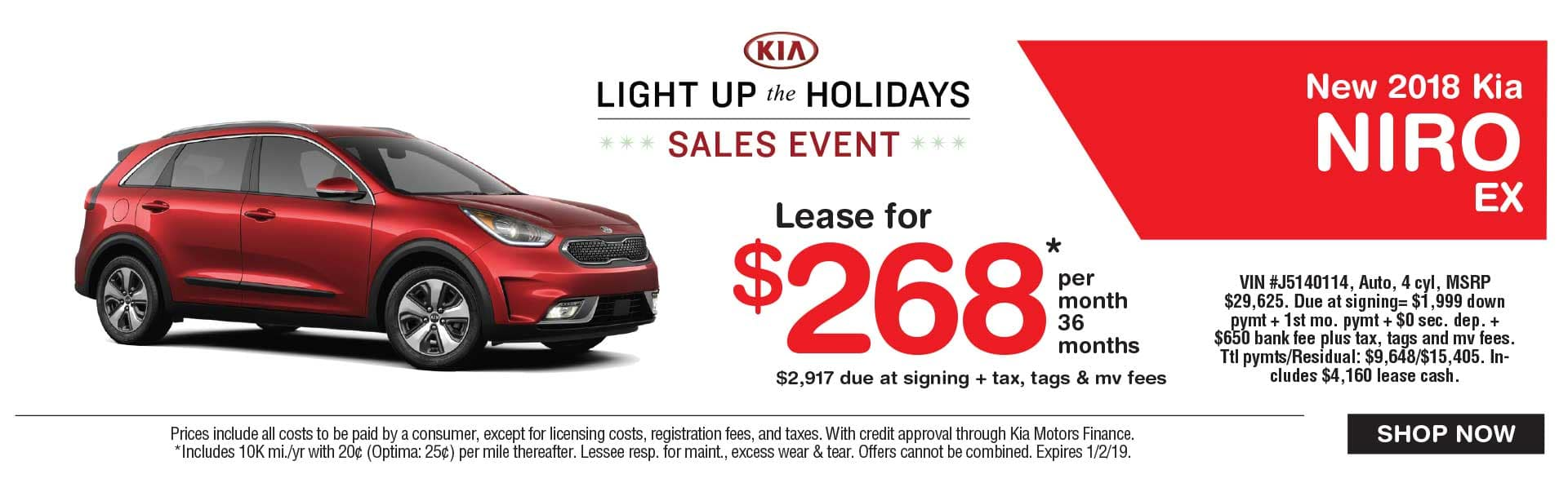Kia Niro lease savings at Global Kia