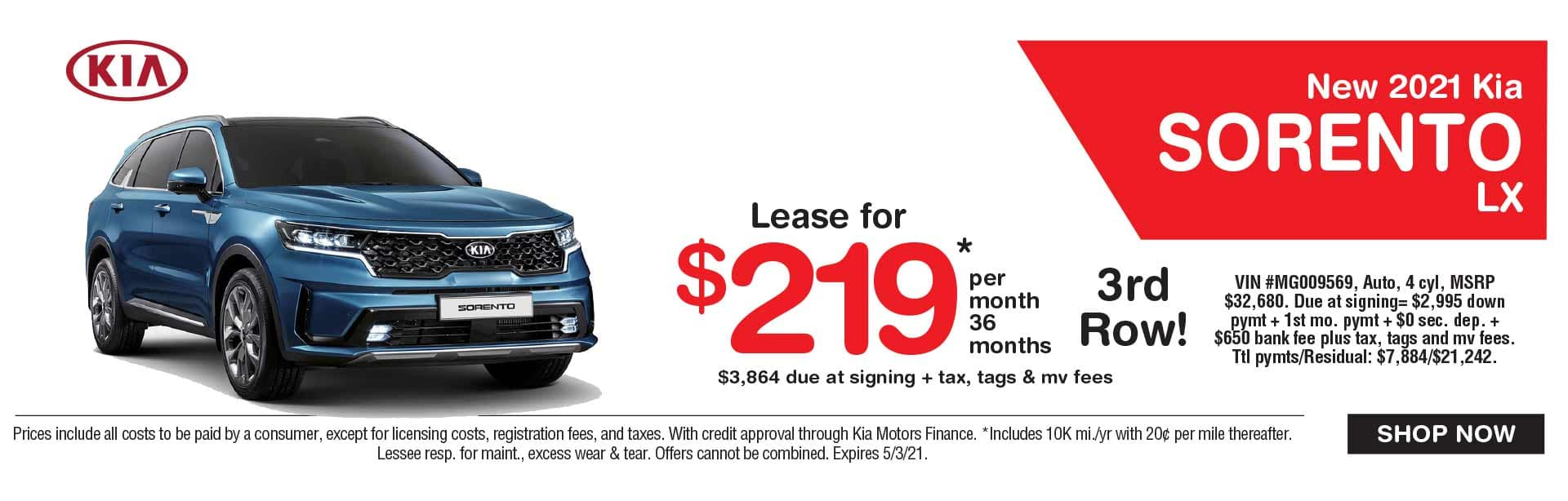 Kia Sorento Lease Spring Savings Kia Dealer NJ near me