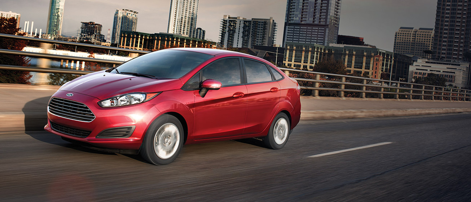 2015 ford fiesta on road