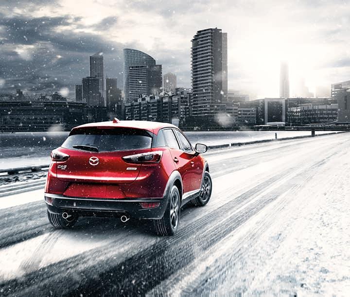 CX-3 Rear Snow