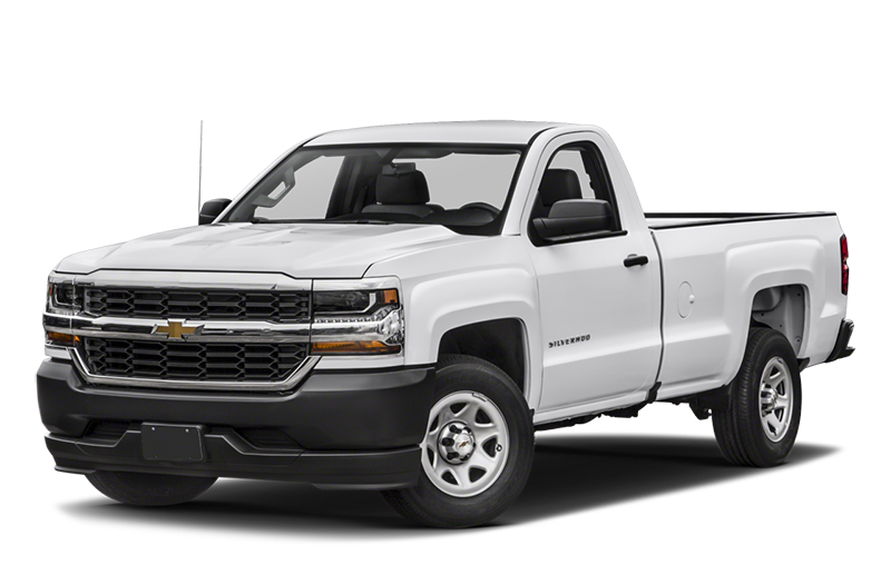 White Chevy Silverado
