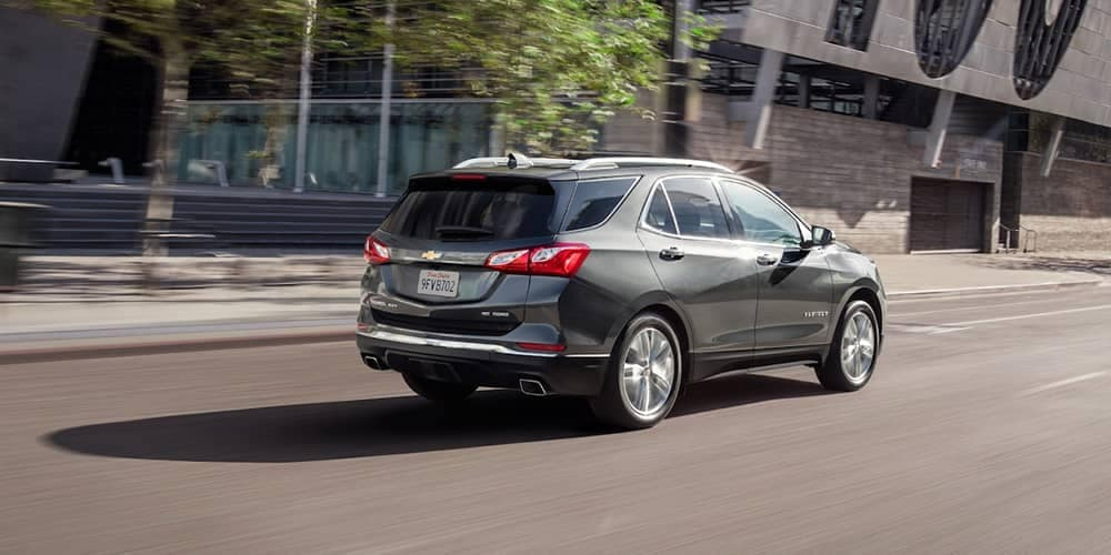 2019 Chevrolet Equinox rear view on city street