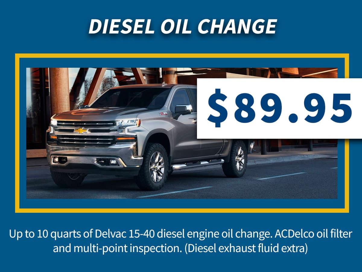 Diesel Oil Change, Oil Filter & Multi-Point Inspection Coupon