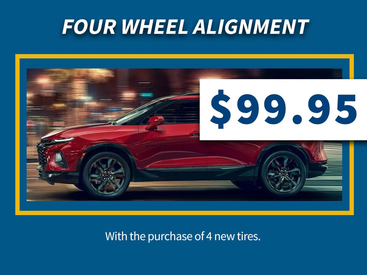 Chevrolet Four Wheel Alignment Service Coupon Discount Special