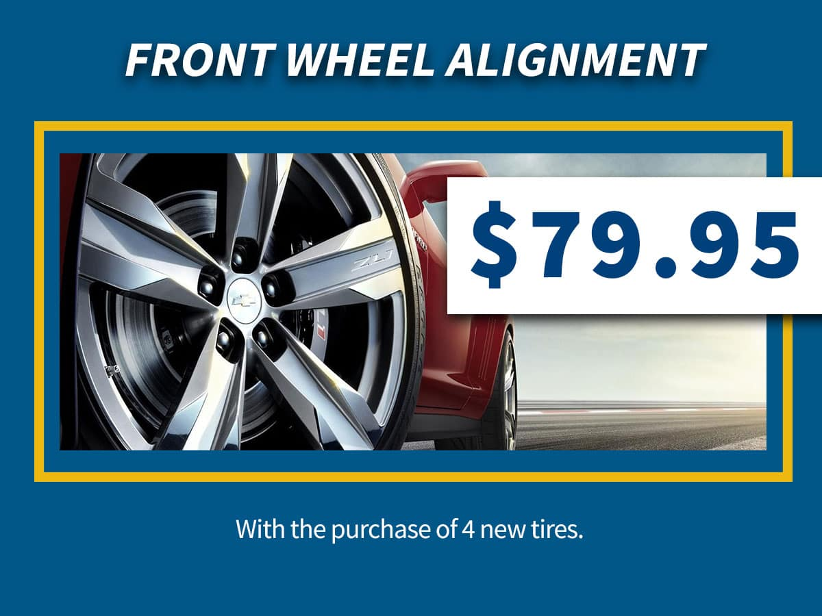 Chevrolet Front Wheel Alignment Coupon