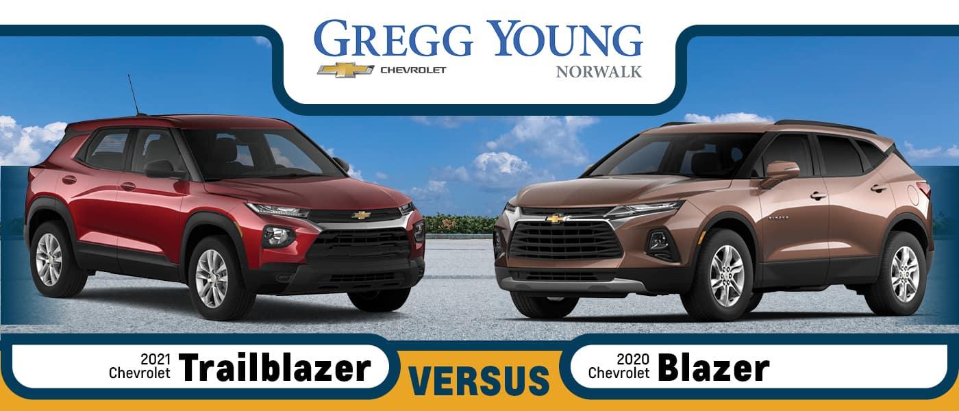 2021 Chevy Trailblazer Vs 2020 Chevy Blazer Size Cargo Space Features