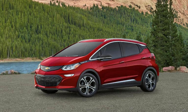 2021 Chevy Bolt EV exterior in nature