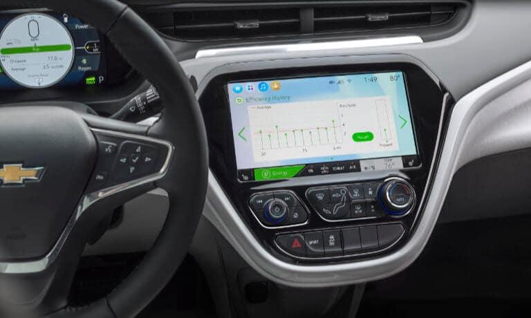 2021 Chevy Bolt EV interior infotainment screen