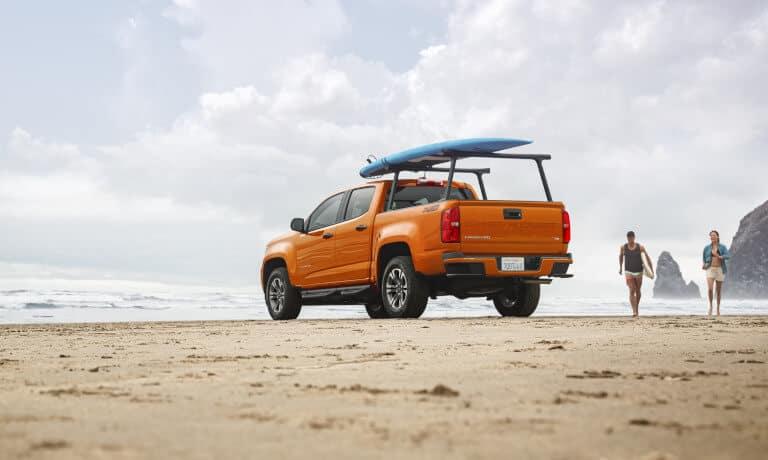 2021 Chevy Colorado parked on a beach