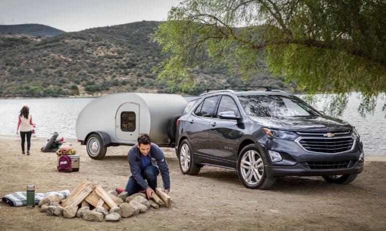 2021 Chevy Equinox exterior campsite with family