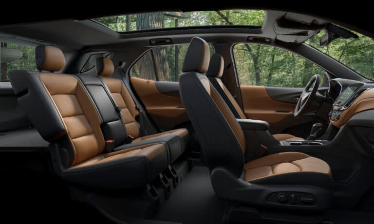 2021 Chevy Equinox interior seating side view