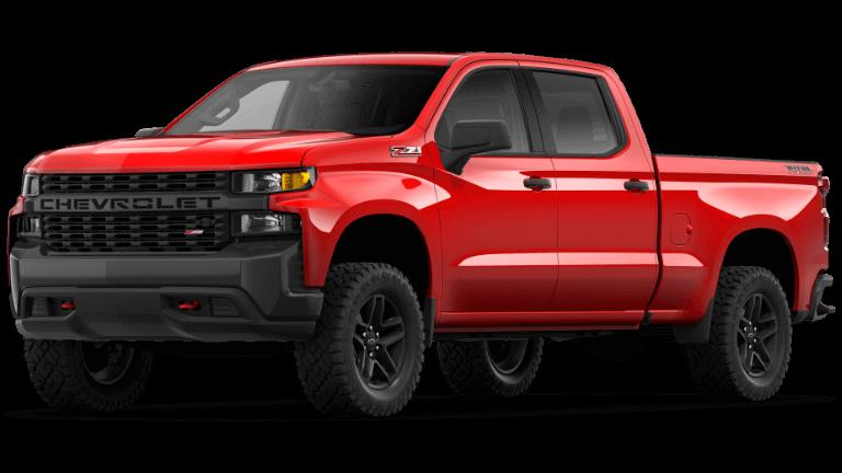 2021 Chevy Silverado Custom Trail Boss in Red Hot Red