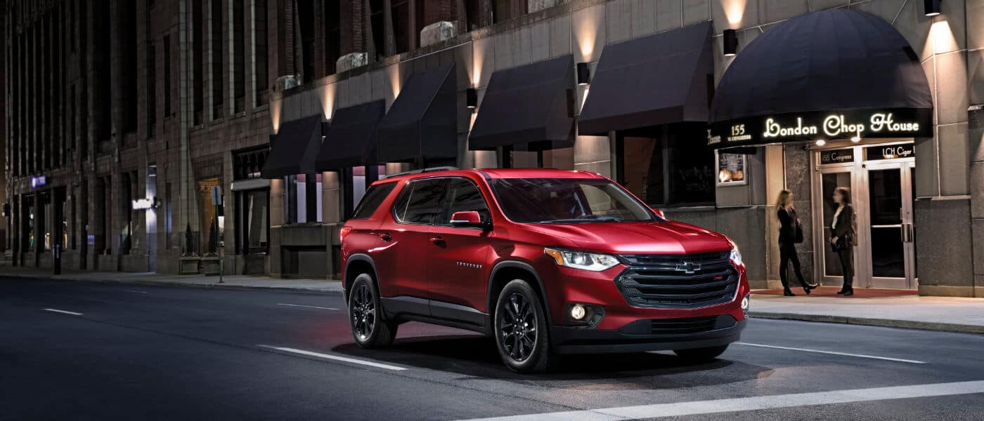 2021 Chevy Traverse Driving through the city