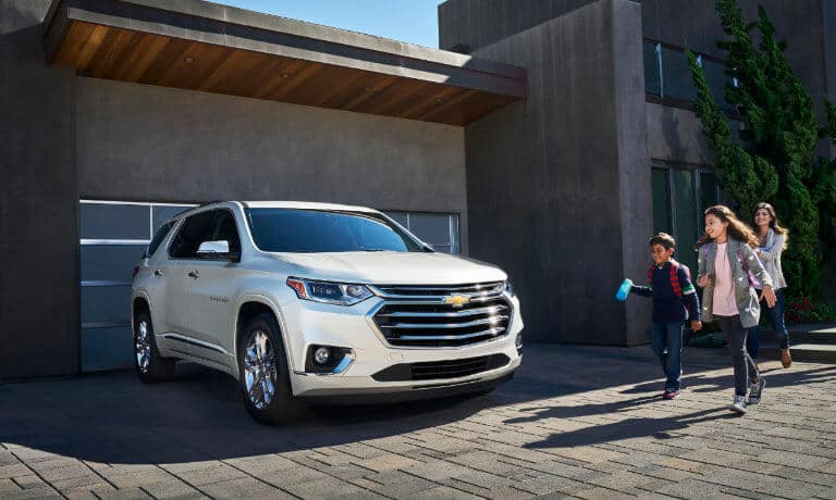 2021 Chevy Traverse parked at a home
