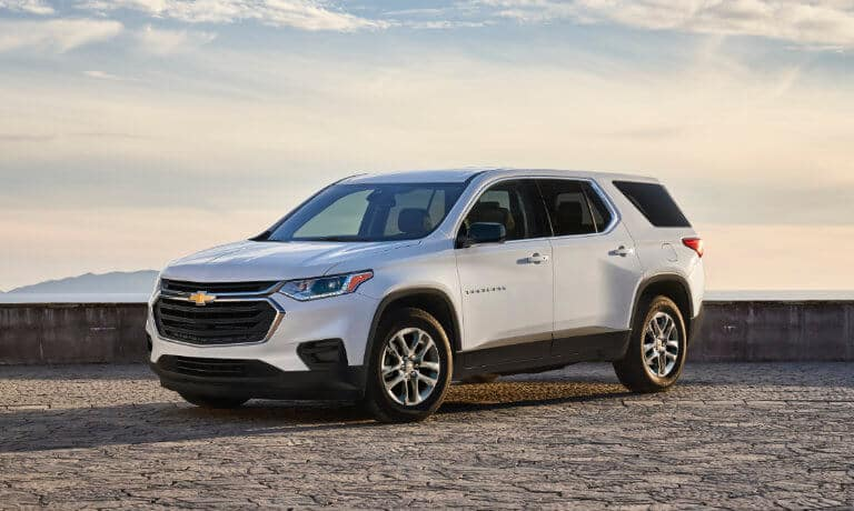 2021 Chevy Traverse parked outside
