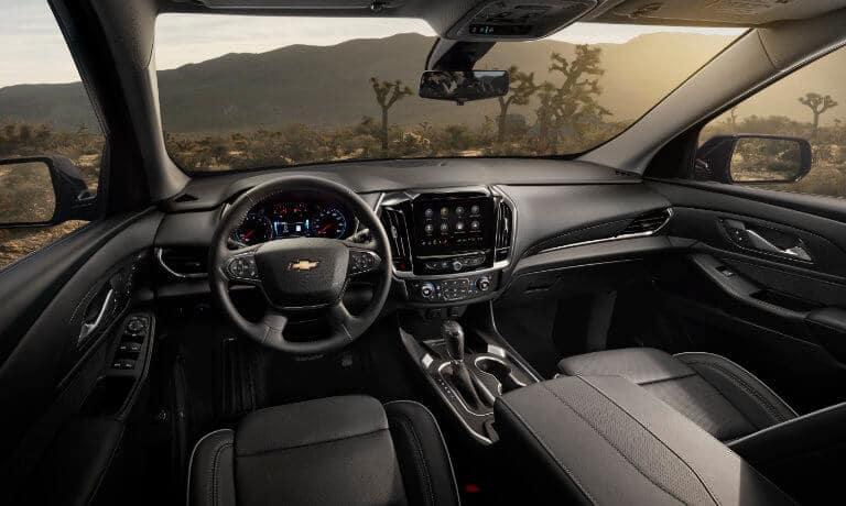 2021 Chevy Traverse interior dashboard view