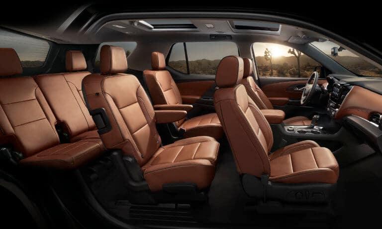 2021 Chevy Traverse interior seating