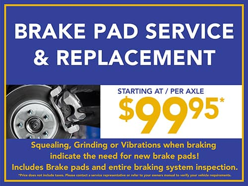 Brake Pad Service & Replacement