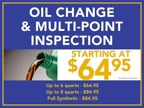 Oil Change & Multi-Point Inspection