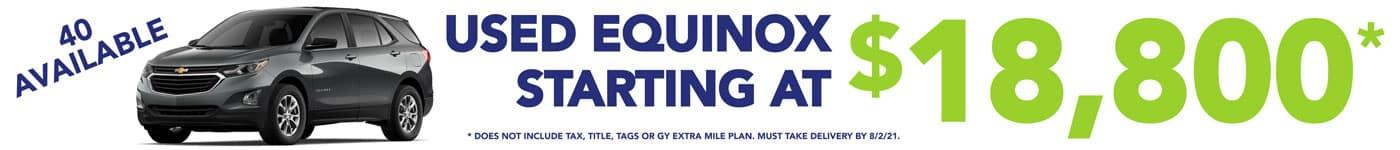 Used Equinox Sale Banner