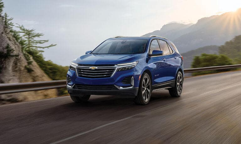 2022 Chevy Equinox driving on the highway