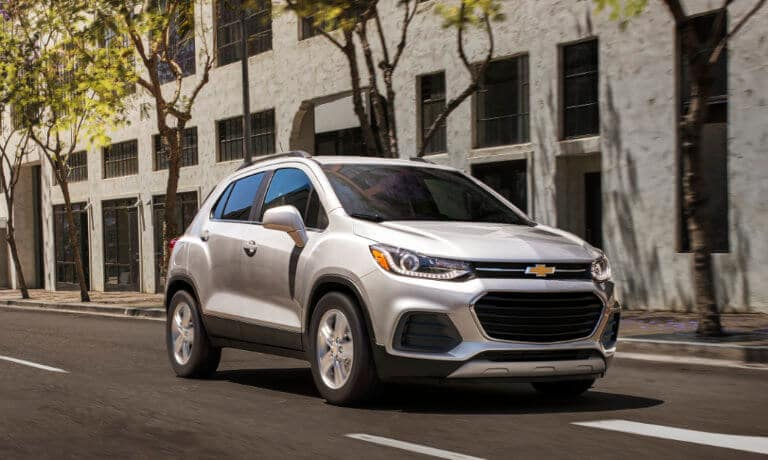 Chevy Trax driving on the street