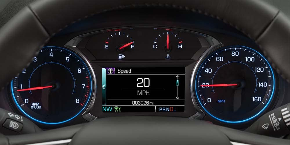 2018 Chevrolet Malibu gauges