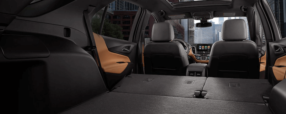 Chevy Equinox interior with rear seats folded down