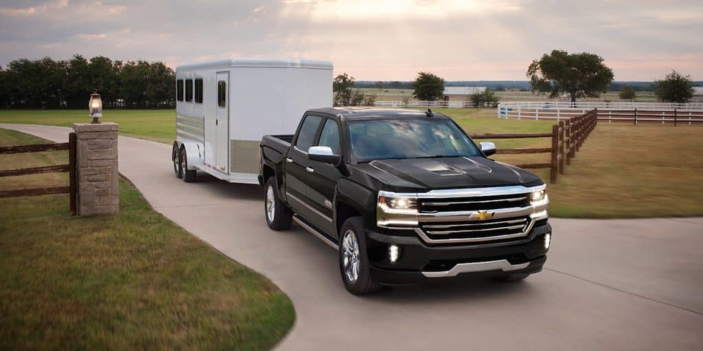 Chevy Silverado Towing Trailer