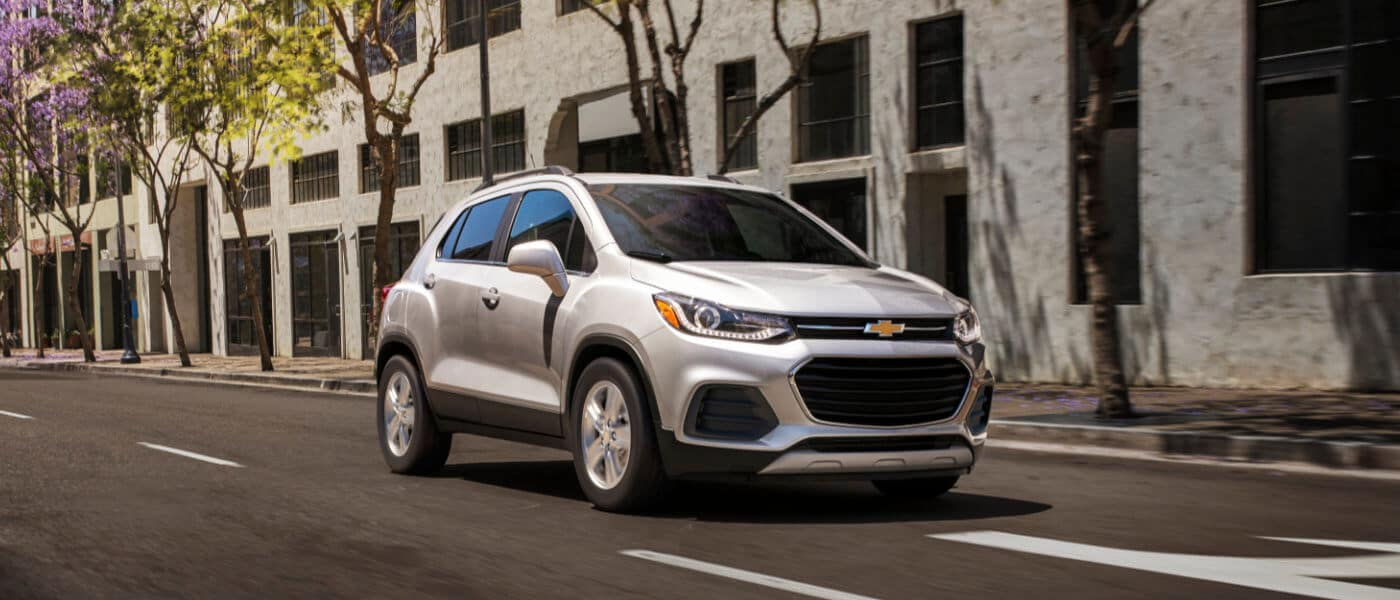 2020 Chevy Trax driving through town