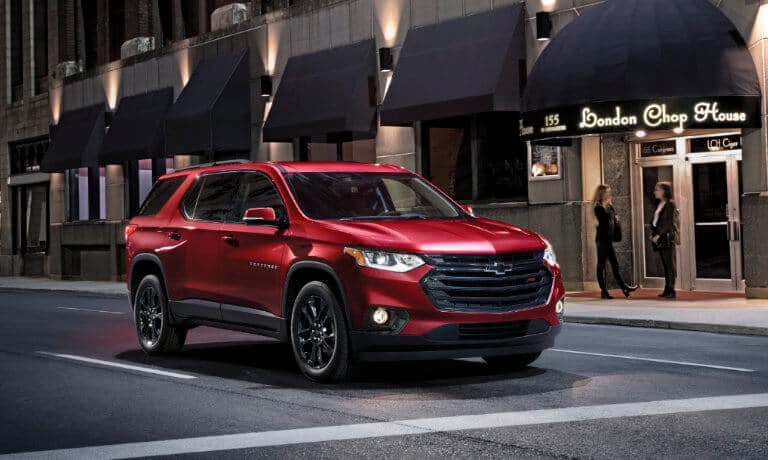 2020 Chevy Traverse driving in the city